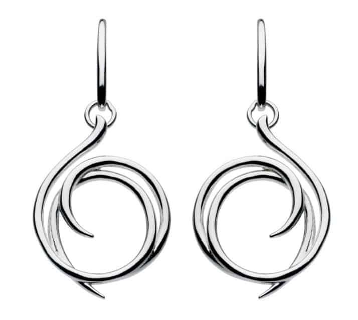 Kit Heath Sterling Silver Helix Stud Earrings Q3P5y