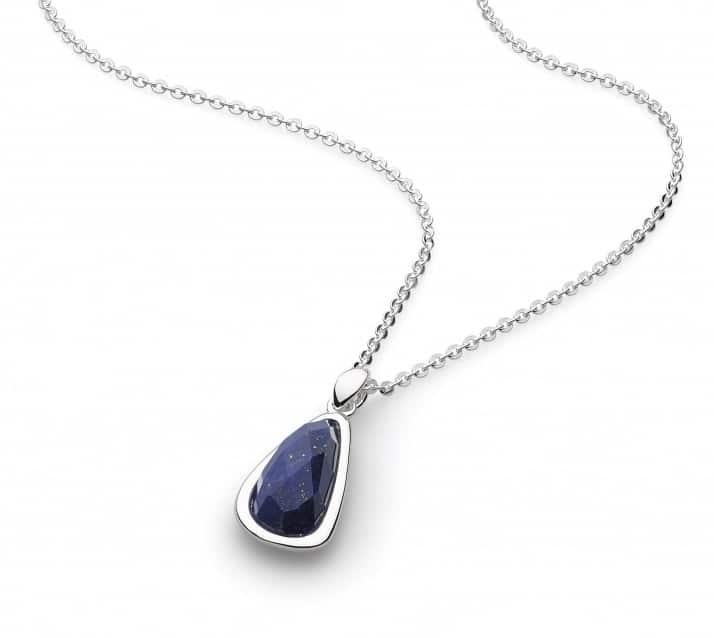 Kit Heath Coast Pebble Double Tag Lapis Lazuli Necklace P7udh0k157