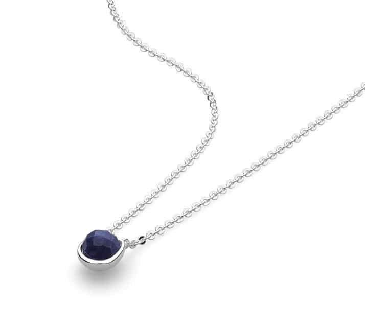 Kit Heath Coast Pebble Double Tag Lapis Lazuli Necklace aBvX2SRG