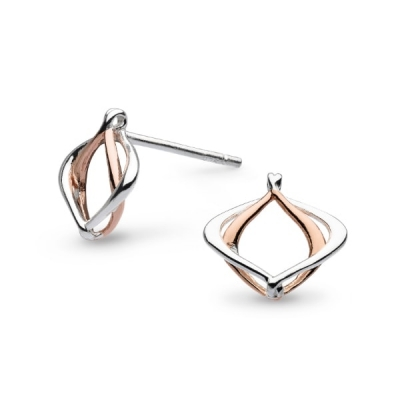 a2d6a0e2d Kit Heath Infinity Alicia Small Rose Gold Plate Stud Earrings